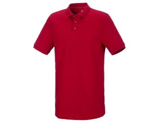 e.s. Pique-Polo cotton stretch, long fit