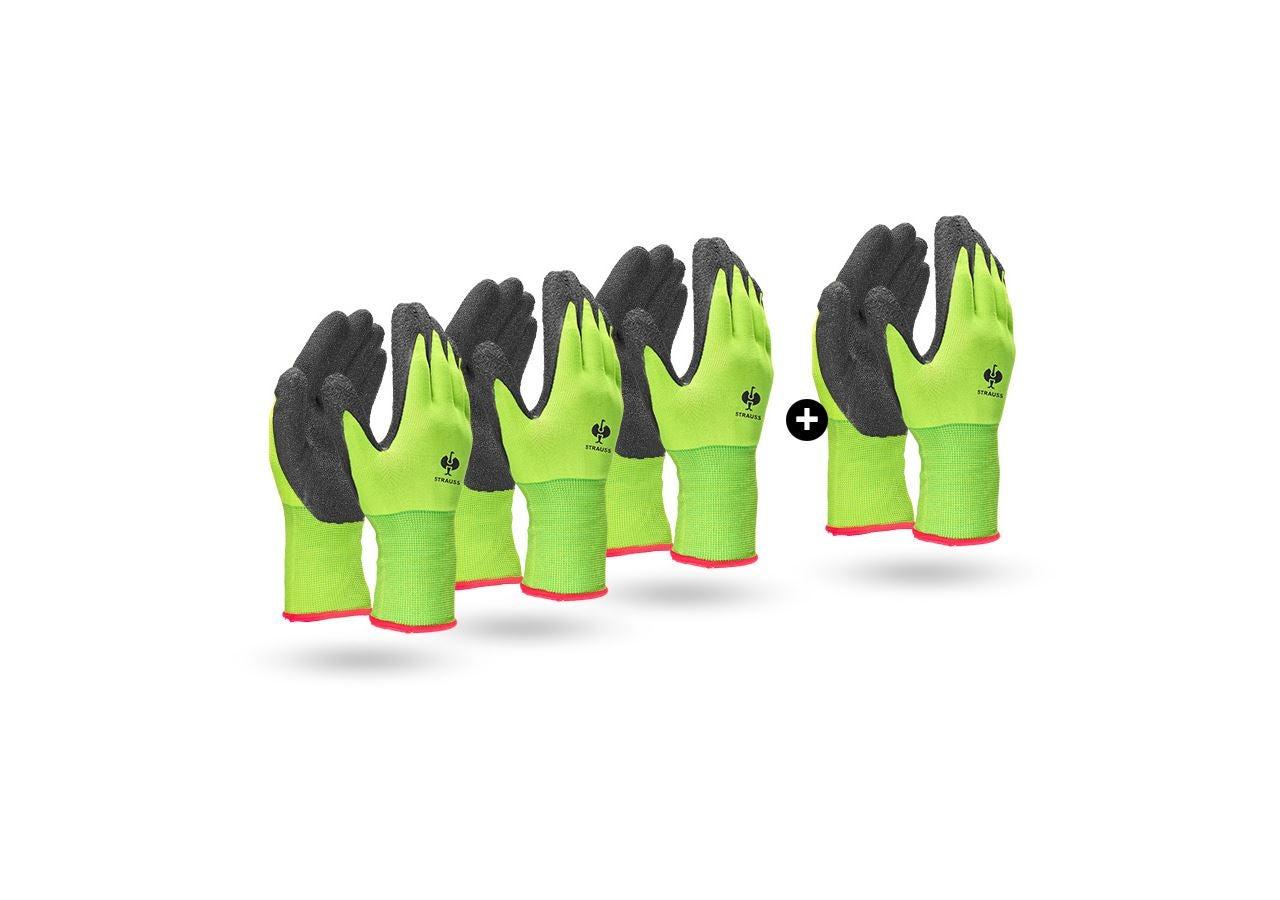Sets   Accessoires: Actie 3+1: Gebreide latex handschoenen Senso Grip