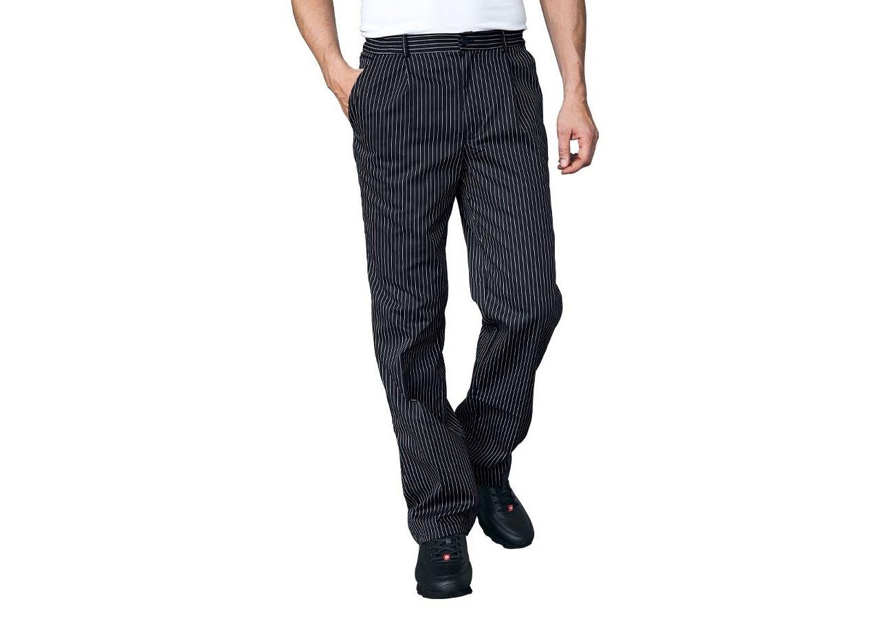 Werkbroeken: Koksbroek Elegance + zwart/wit