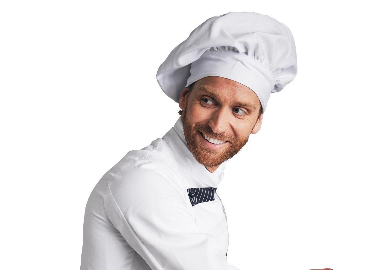 Accessoires: Toque de cuisinier français + blanc