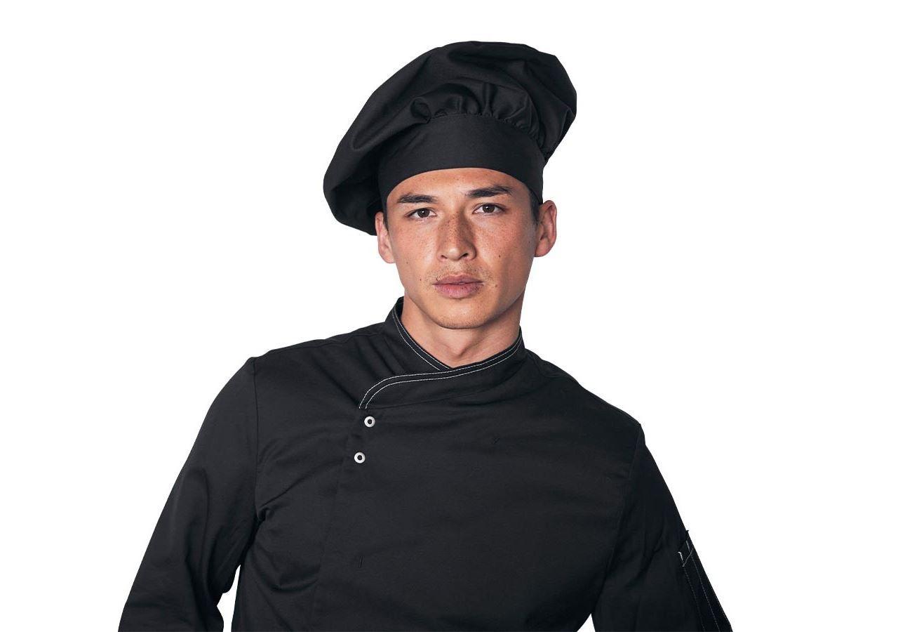 Accessoires: Französische Kochmütze II + schwarz