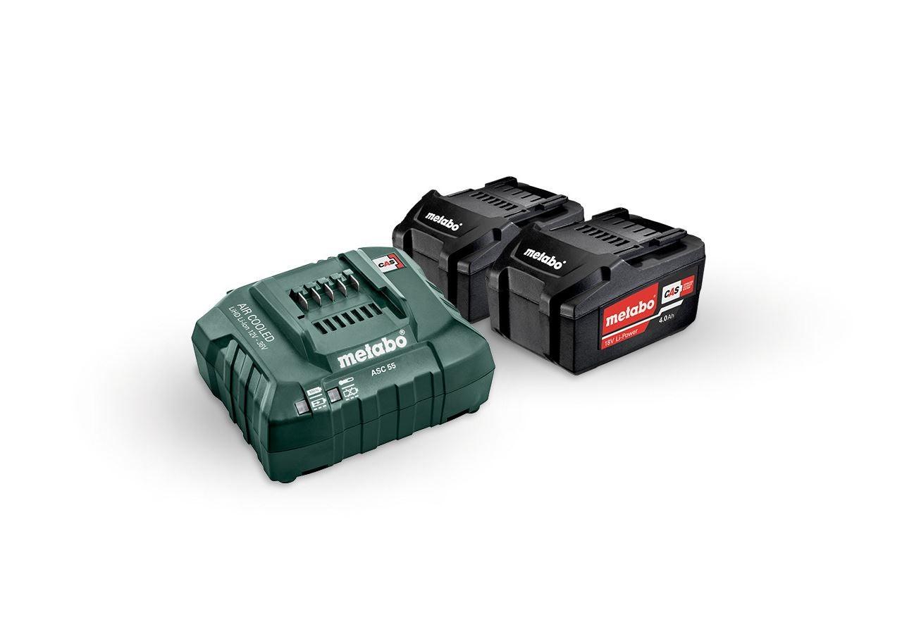 Elektrische gereedschappen: Metabo accu-pack 2x 4,0 Li-Ion accu's + lader