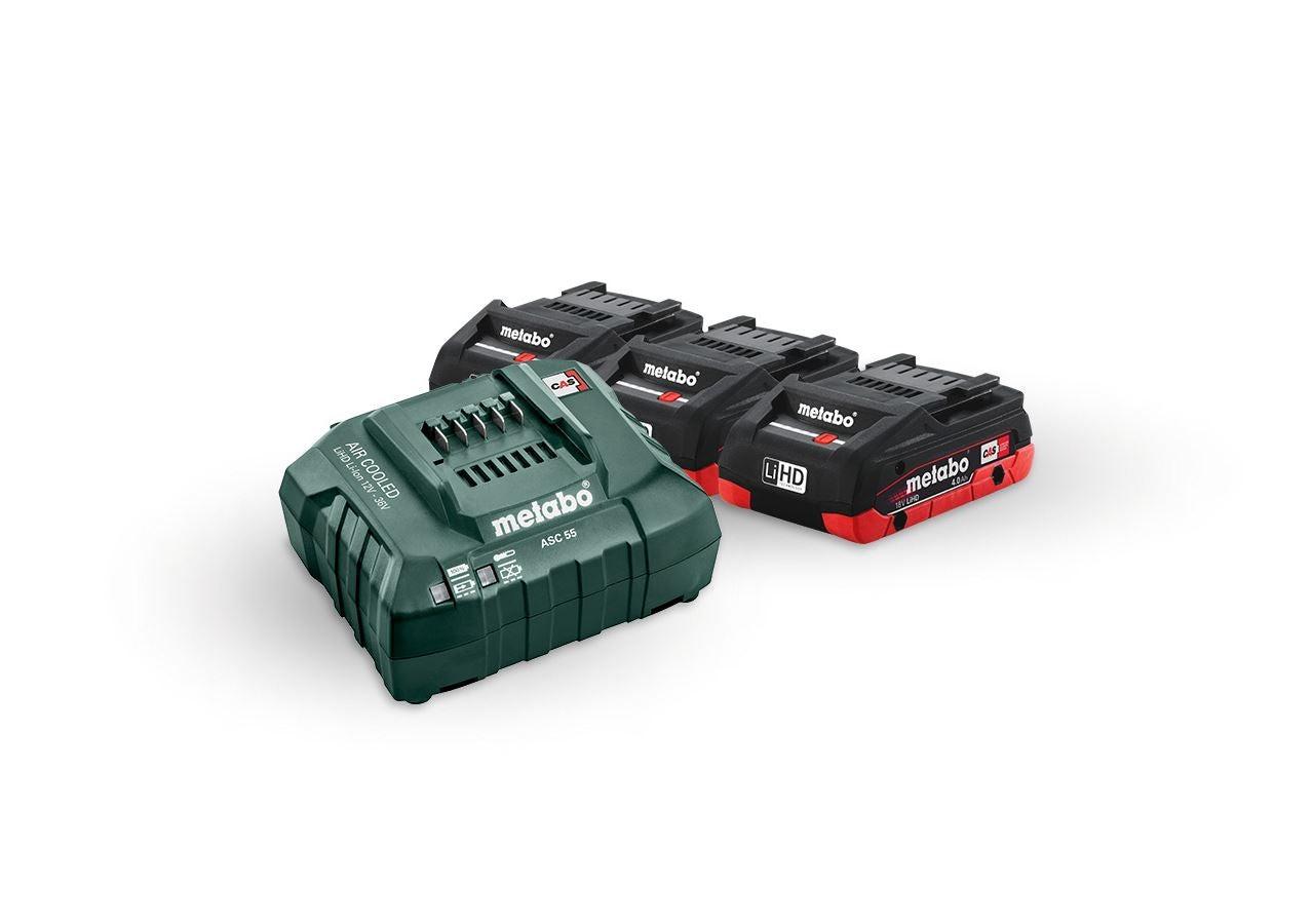 Elektrische gereedschappen: Metabo accu-pack 3x 4,0 LiHD accu's + lader