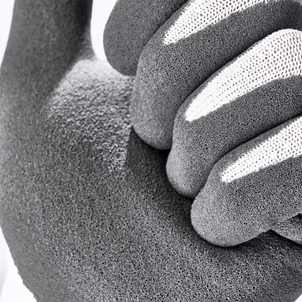 Beschichtet: e.s. Nitrilschaum-Handschuhe recycled, 3 Paar + anthrazit/weiß 2