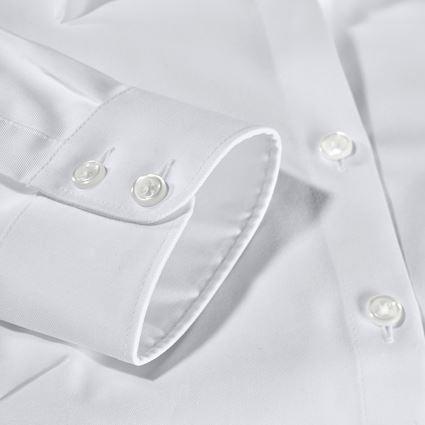Shirts & Co.: e.s. Business Bluse cotton stretch, Damen reg. fit + weiß 2