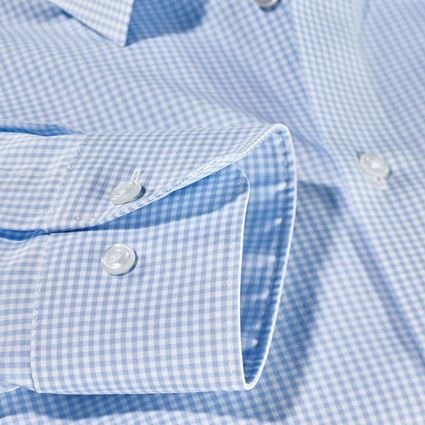 Bovenkleding: e.s. Business overhemd cotton stretch, comfort fit + vorstblauw geruit 2