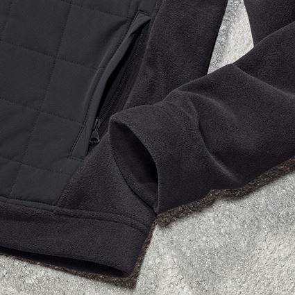 Werkjassen: Hybride capuchonfleecejack e.s.concrete + zwart 2