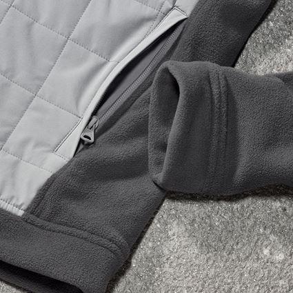 Werkjassen: Hybride capuchonfleecejack e.s.concrete + antraciet/parelgrijs 2
