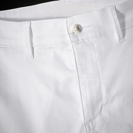 Hosen: e.s. 5-Pocket-Berufshose Chino + weiß 2