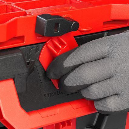 Gereedschapskoffers: STRAUSSbox Hybrid adapterplaat + rood/zwart 2