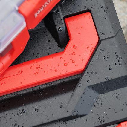Werkzeugkoffer: STRAUSSbox 145 midi+ + schwarz/rot 2