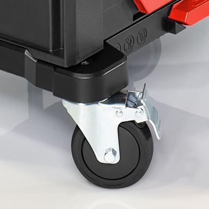 Gereedschapskoffers: STRAUSSbox Cart + zwart/rood 2