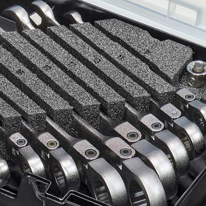 Schroefsleutels: Ratch-Tech-set met scharnier in STRAUSSbox mini 2