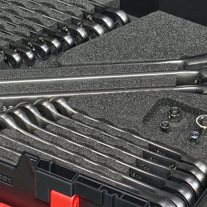 Schroefsleutels: Ratch-Tech-set omschakelbaar in STbox 145 midi+ 2
