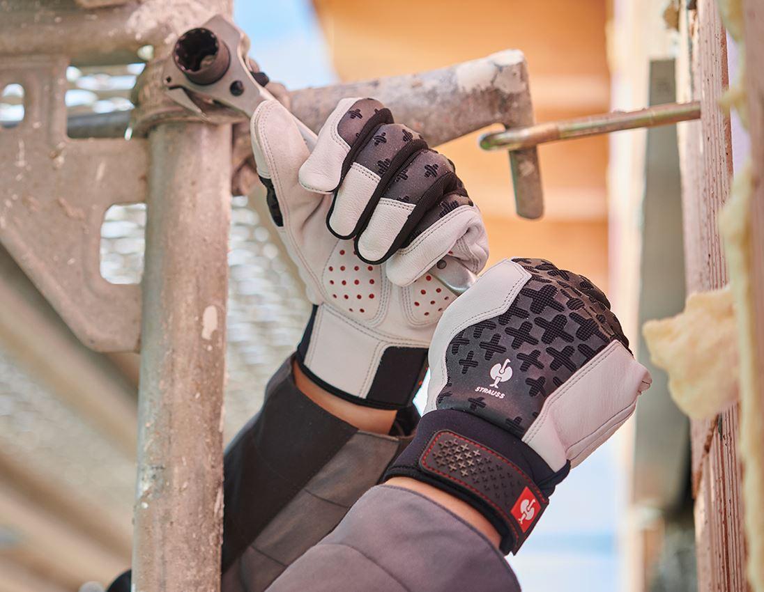 Leder: e.s. Leder-Montagehandschuhe ergoplus
