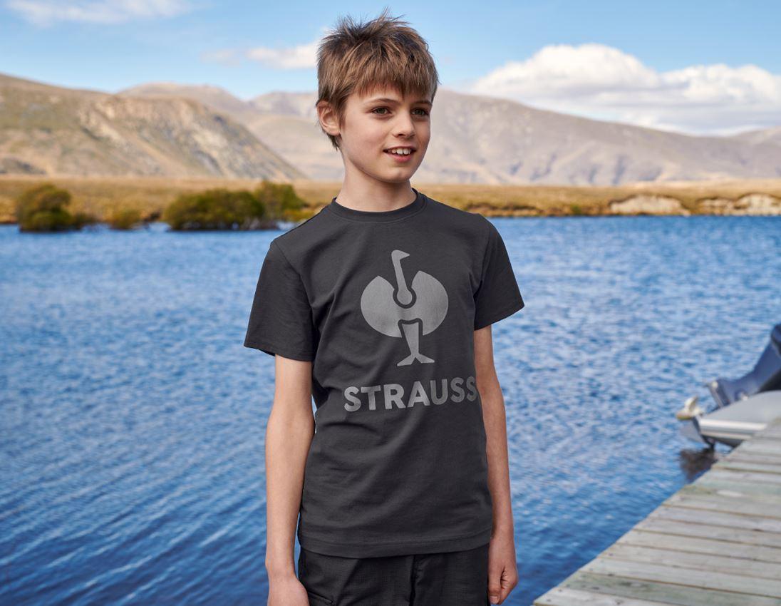 Shirts & Co.: T-Shirt e.s.concrete, Kinder + schwarz