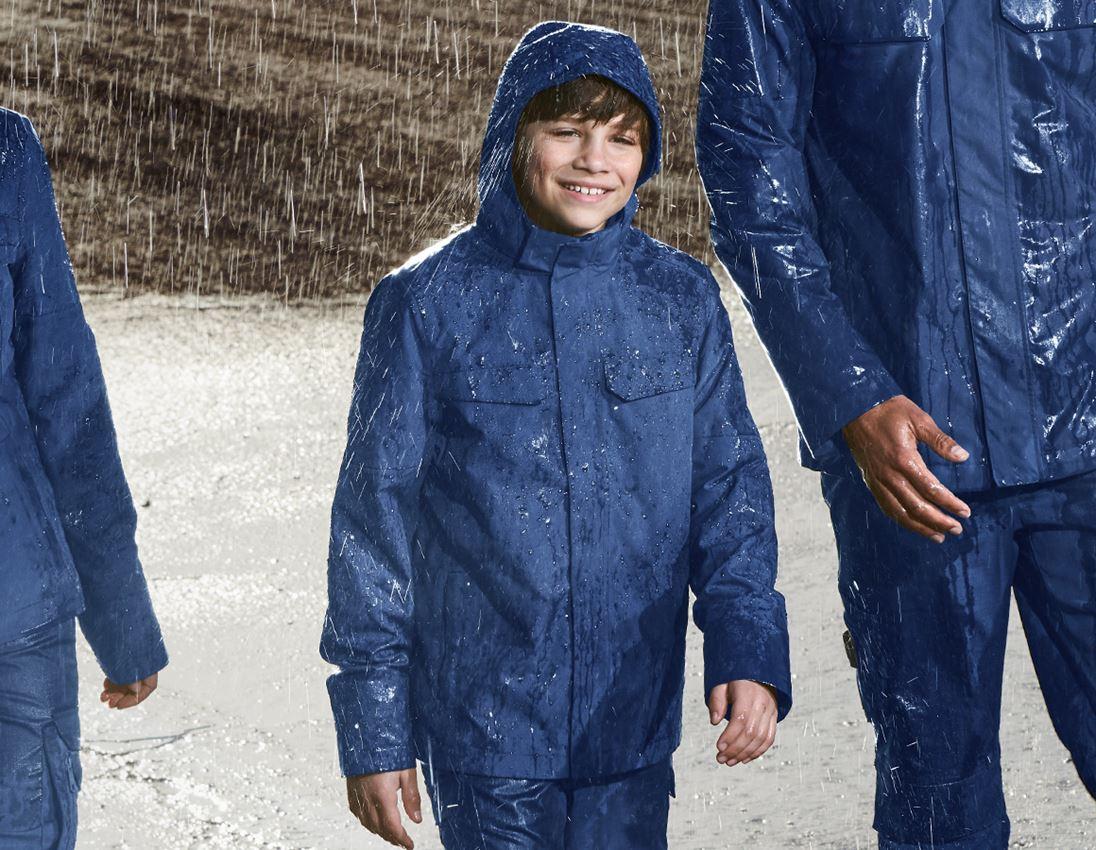 Jacken: Regenjacke e.s.concrete, Kinder + alkaliblau