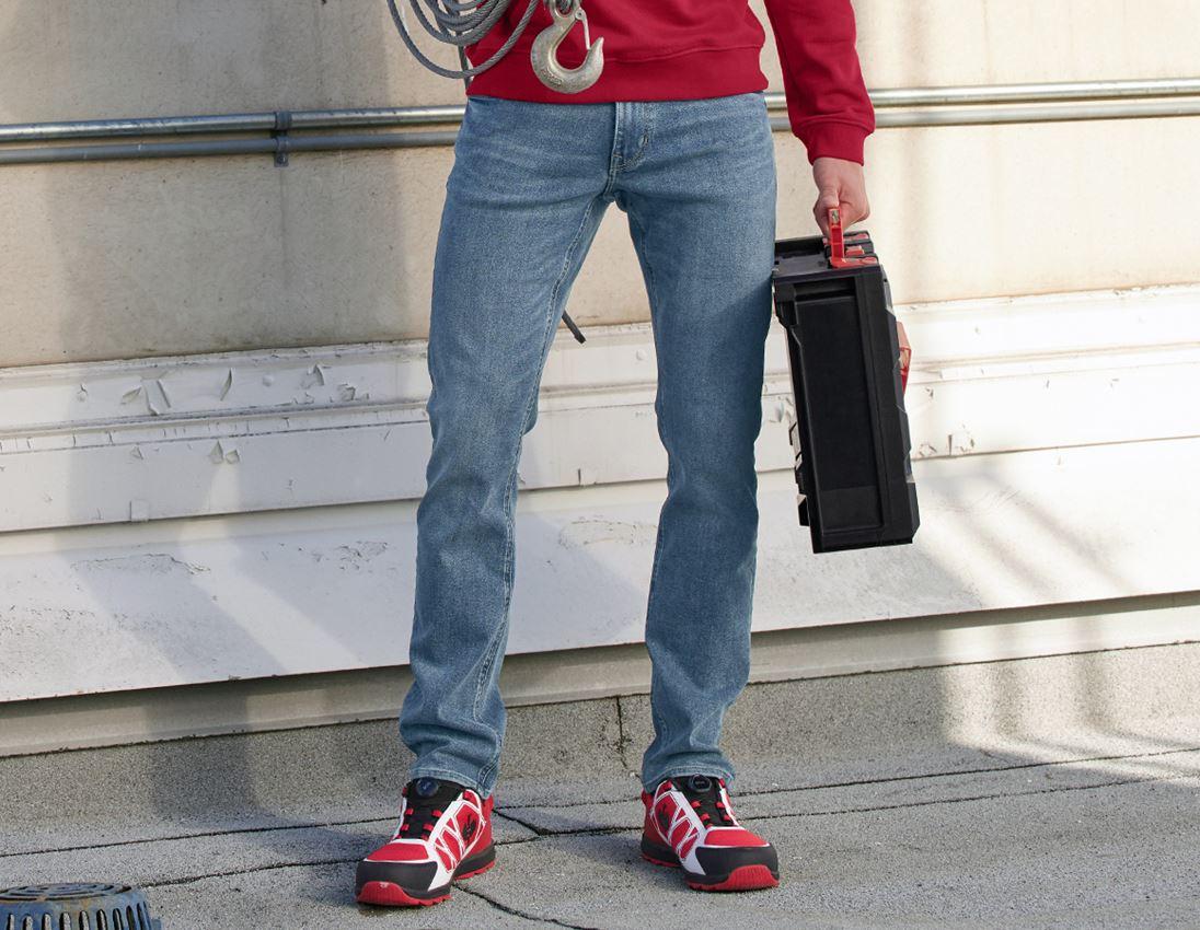 Werkbroeken: e.s. Winter stretch-jeans met 5 zakken + stonewashed