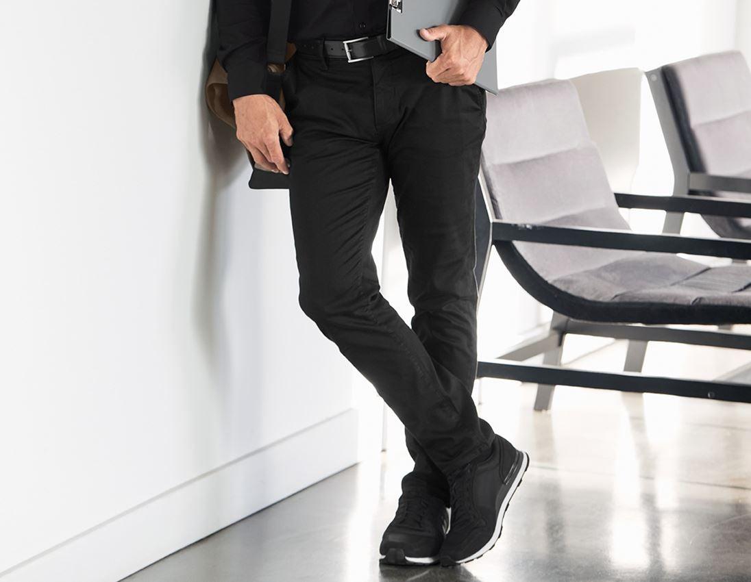 Werkbroeken: e.s. 5-pocket-werkbroek chino + zwart