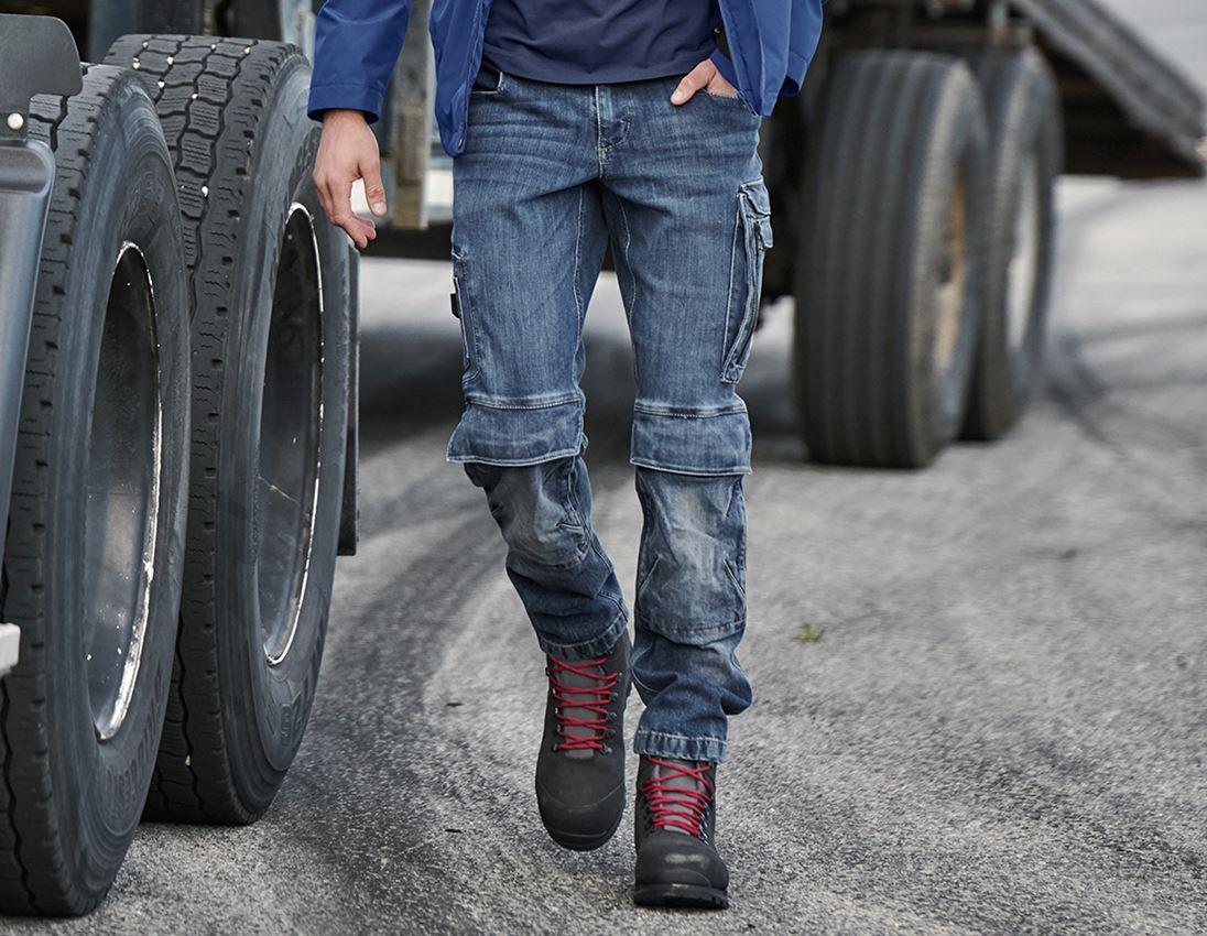 Werkbroeken: cargo worker-jeans e.s.concrete + stonewashed