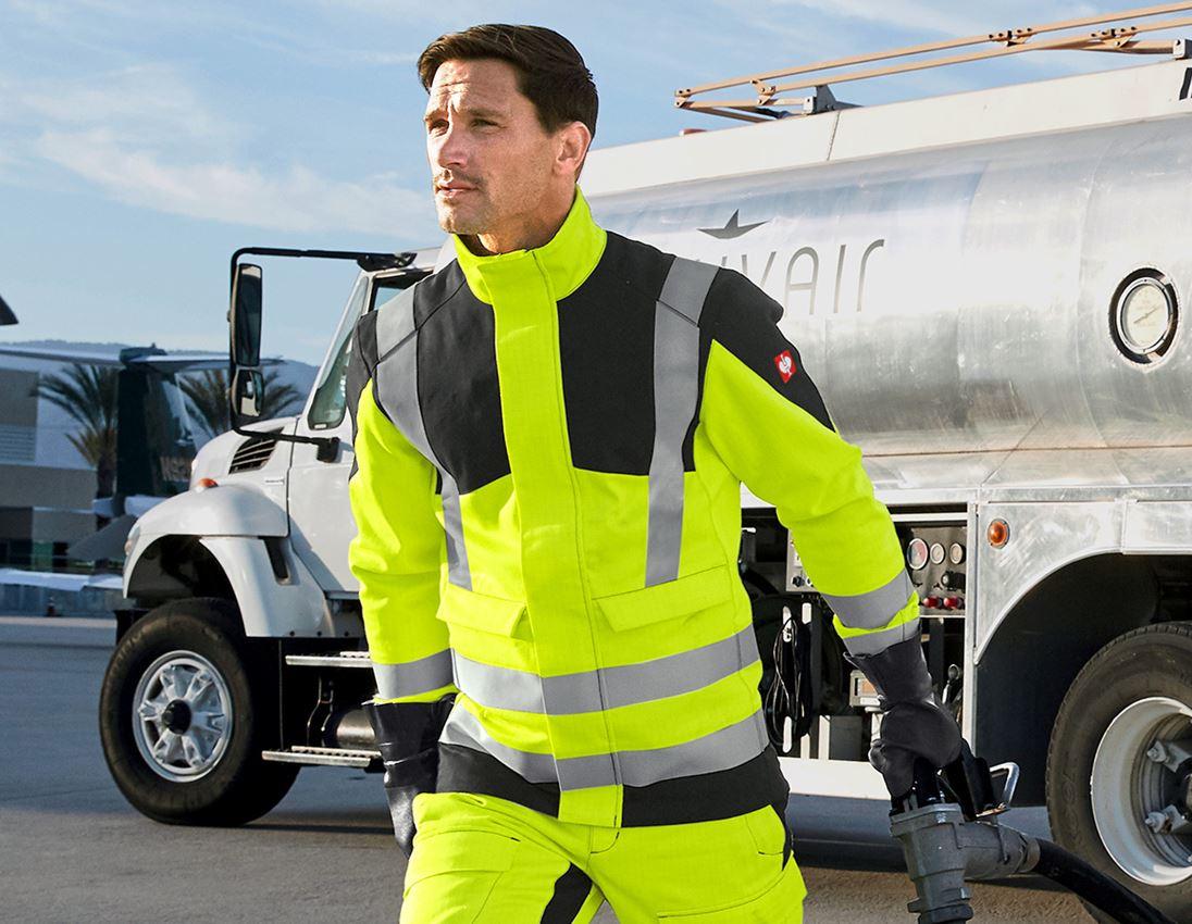 Jacken: e.s. Berufsjacke multinorm high-vis + warngelb/schwarz