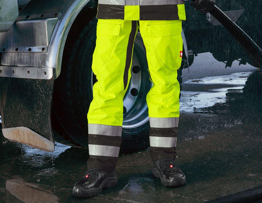 Werkbroeken: e.s. weerbestendig broek multinorm high-vis + signaalgeel/zwart