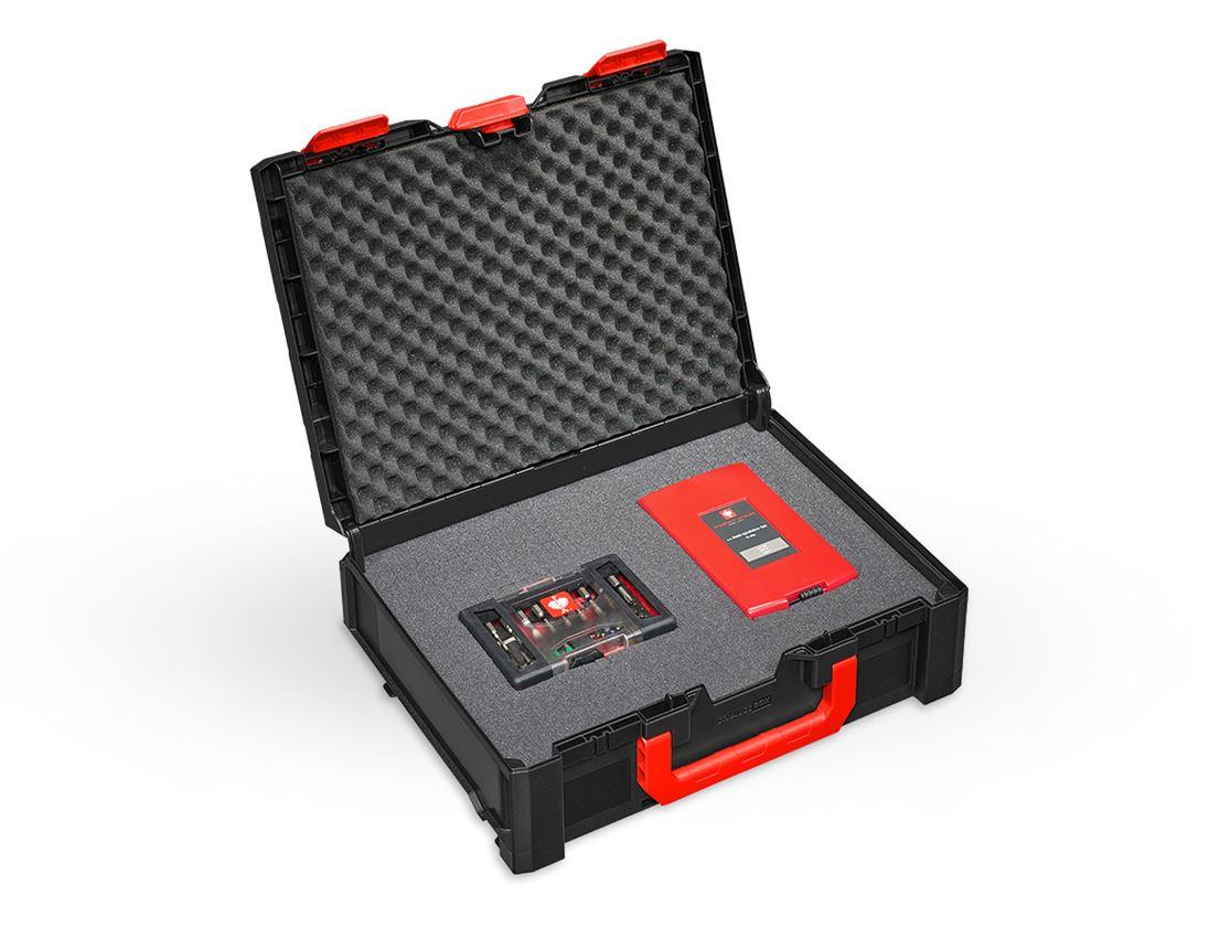 Werkzeugkoffer: Rasterschaum STRAUSSbox 145 midi+