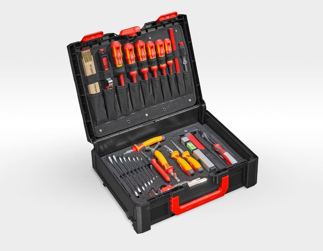Gereedschapskoffers: STRAUSSbox gereedschapsset 145 Elektro