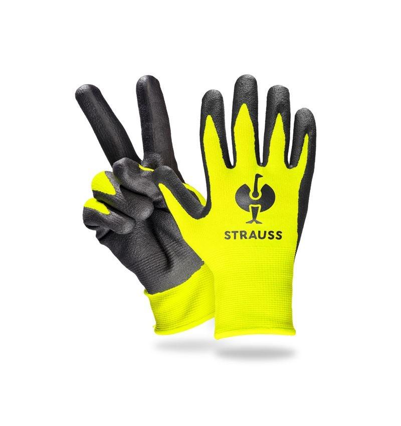 Accessoires: e.s. Kinder-Nitrilschaum Handschuhe + warngelb