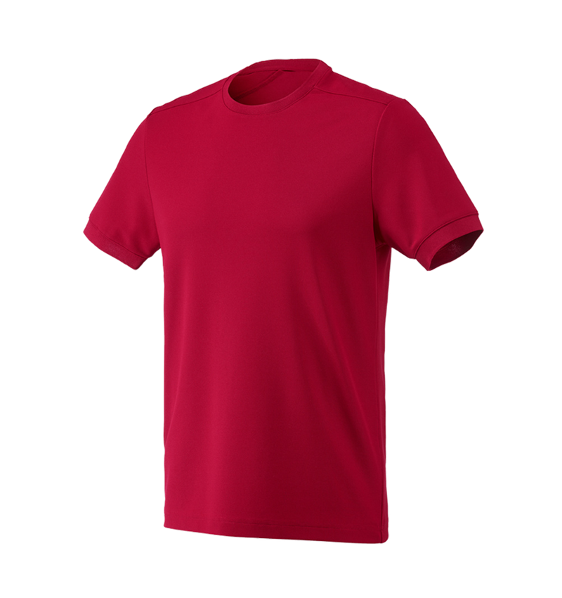 Shirts & Co.: Funktions Piqué-Shirt e.s.industry + feuerrot