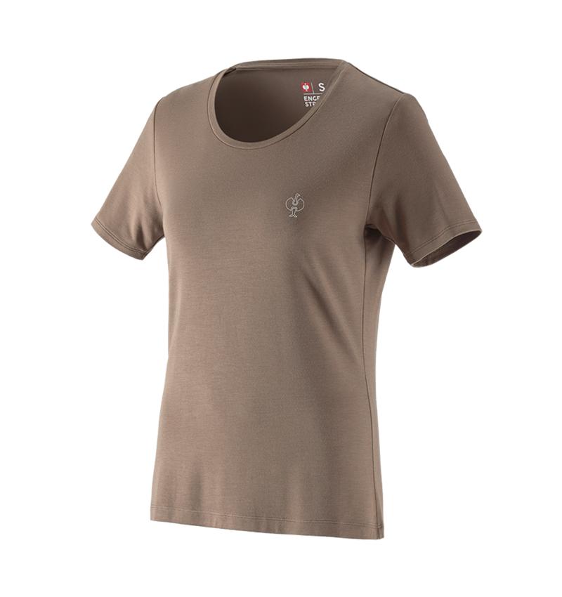 Bovenkleding: Modal-shirt e.s. ventura vintage, dames + ombergrijs
