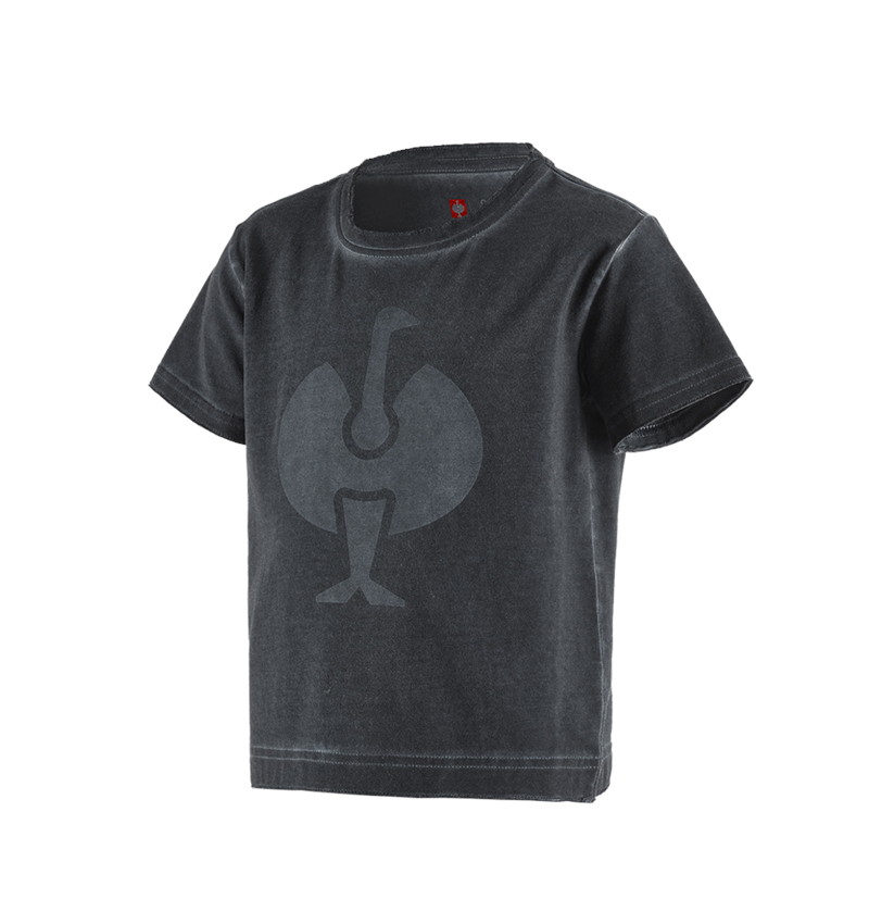 Bovenkleding: T-Shirt e.s.motion ten ostrich, kinderen + oxidezwart vintage