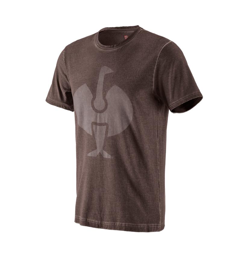 Bovenkleding: T-Shirt e.s.motion ten ostrich + kastanje vintage