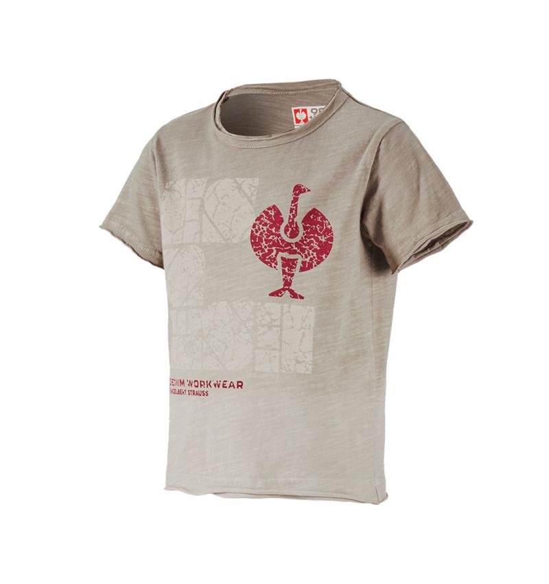 Bovenkleding: e.s. T-Shirt denim workwear, kinderen + taupe vintage