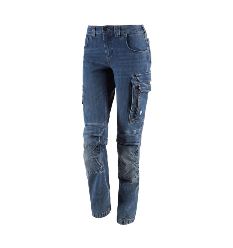 Werkbroeken: cargo worker-jeans e.s.concrete, dames + stonewashed