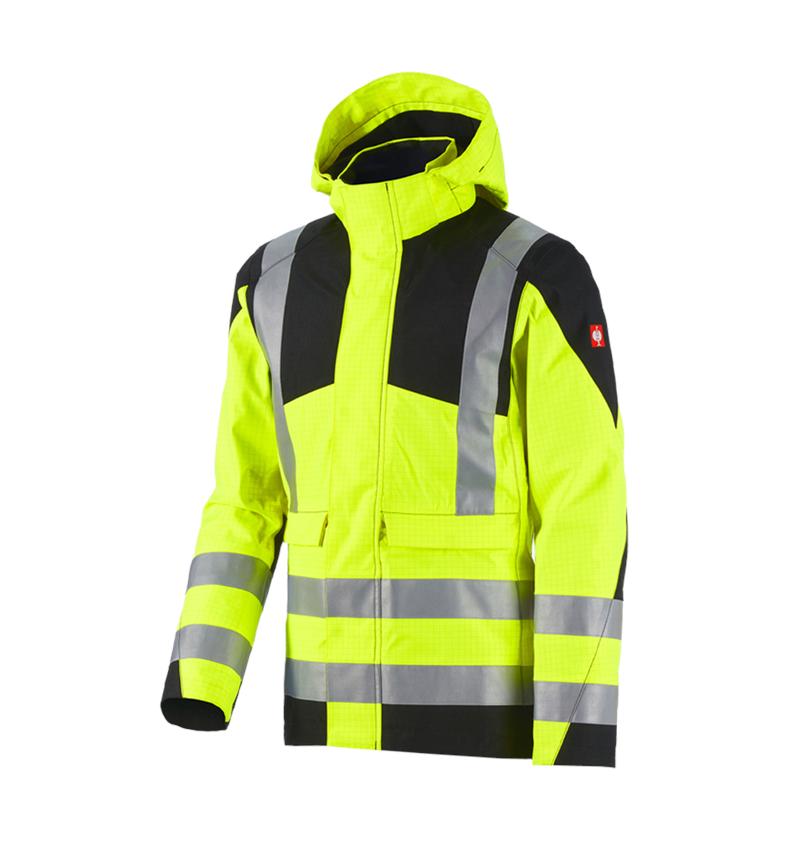 Jacken: e.s. Wetterschutzjacke multinorm high-vis + warngelb/schwarz