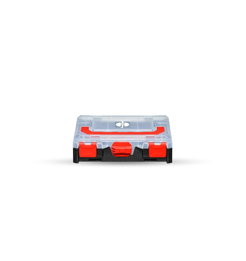 Gereedschapskoffers: STRAUSSbox mini + zwart/rood