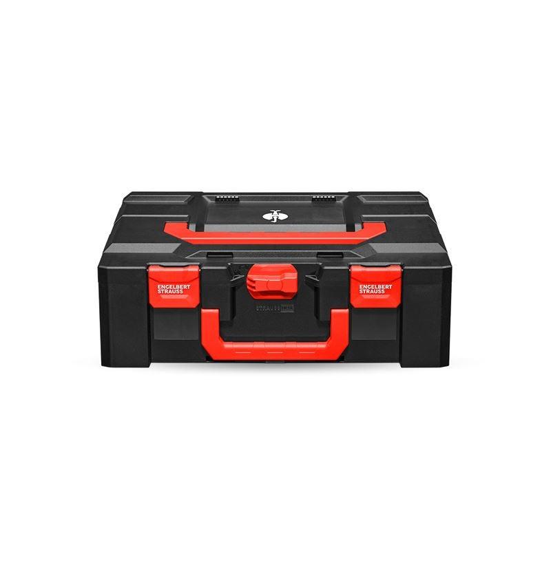 Gereedschapskoffers: STRAUSSbox 165 large + zwart/rood