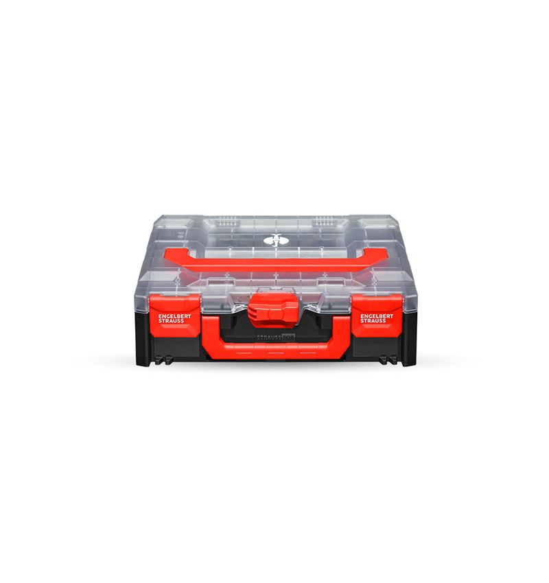 Gereedschapskoffers: STRAUSSbox 118 midi + transparant/zwart
