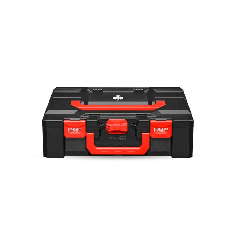 Gereedschapskoffers: STRAUSSbox 145 large + zwart/rood