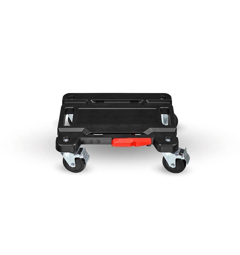 Gereedschapskoffers: STRAUSSbox Cart + zwart/rood
