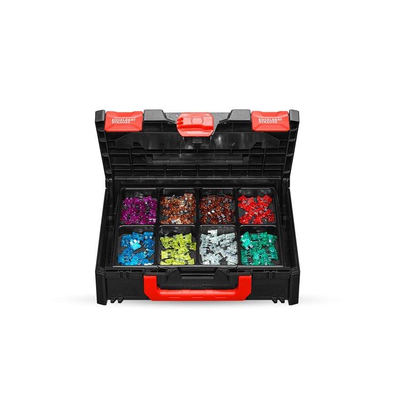 Assortiment kleine onderdelen: Zekeringenassortiment in STRAUSSbox 118 midi