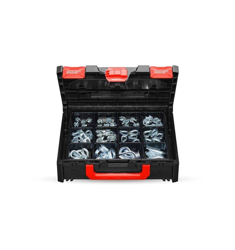 Assortiment kleine onderdelen: Assort. kabelklemmen/-kousen STRAUSSbox midi