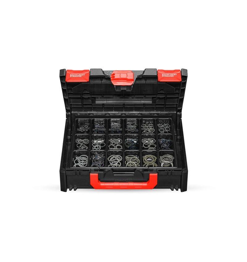 Assortiment kleine onderdelen: Borgringen DIN 471 in STRAUSSbox 118 midi