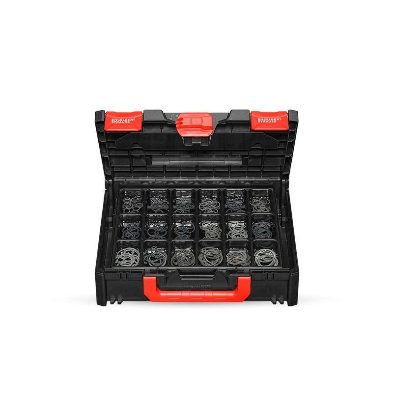 Assortiment kleine onderdelen: Borgringen DIN 472 in STRAUSSbox 118 midi