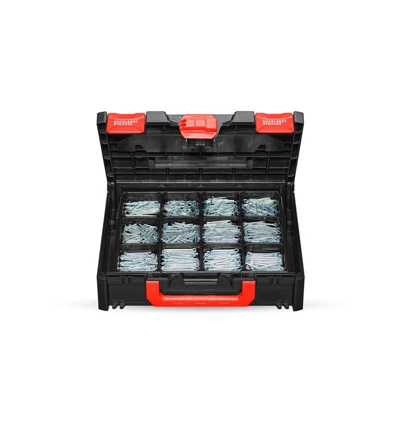 Assortiment kleine onderdelen: Assortiment splitpennen DIN 94 in STRAUSSbox