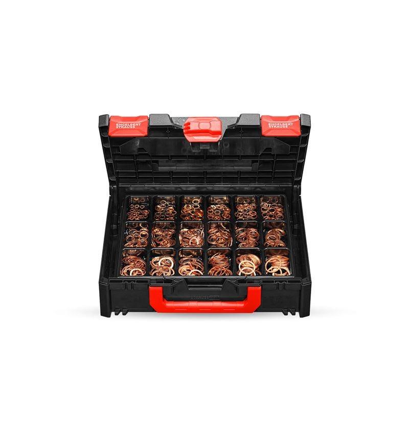 Assortiment kleine onderdelen: Afdichtringen DIN 7603 A in STRAUSSbox 118 midi