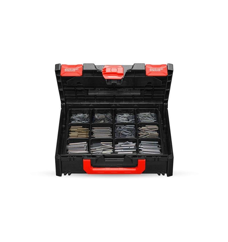 Assortiment kleine onderdelen: Spanhulzen ISO 8752 in STRAUSSbox 118 midi