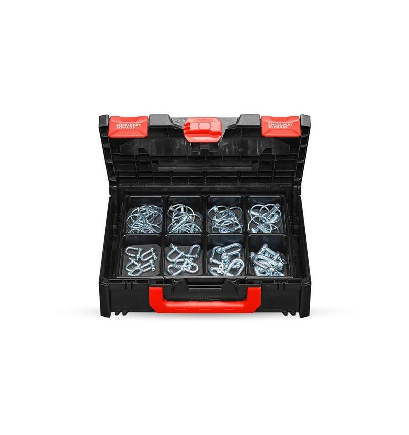 Assortiment kleine onderdelen: Splitpennen en harpsluitingen in STRAUSSbox