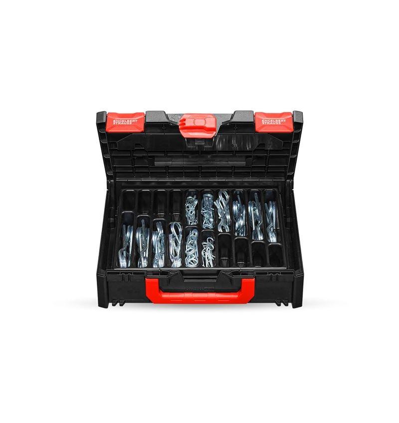 Assortiment kleine onderdelen: Assortiment borgveren in STRAUSSbox 118 midi